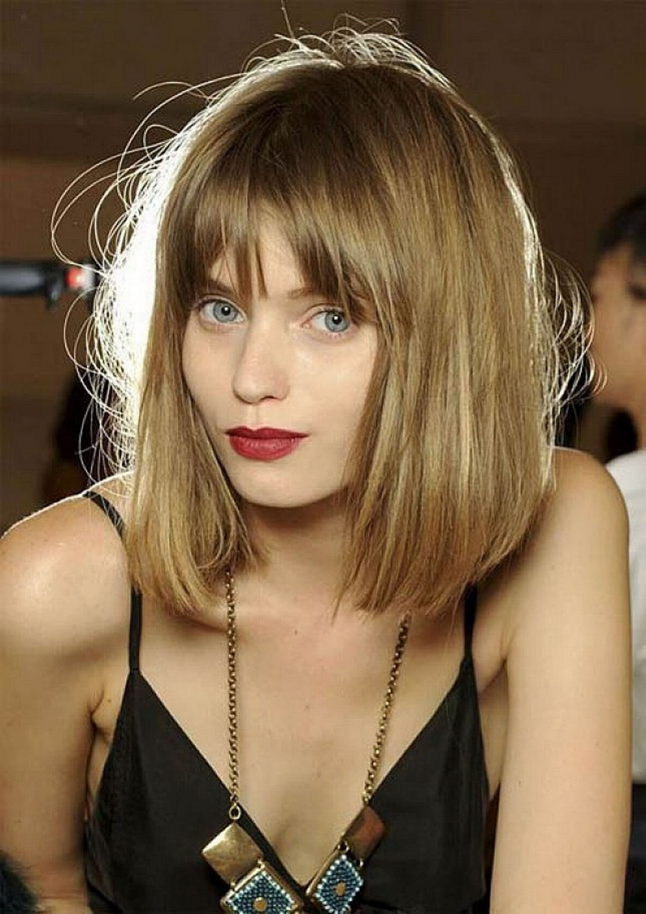 Best Shoulder Length Bob Hairstyles With Bangs For Straight Fine