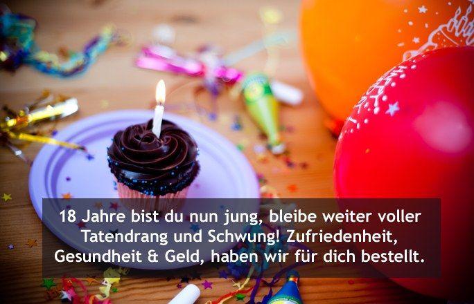 Die Schönsten Glückwünsche Zum 18. Geburtstag