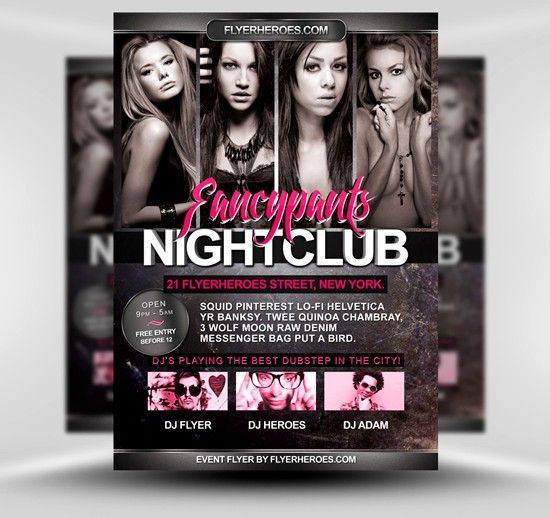 Free Psd Poster And Flyer Templates  Party Flyer Flyer