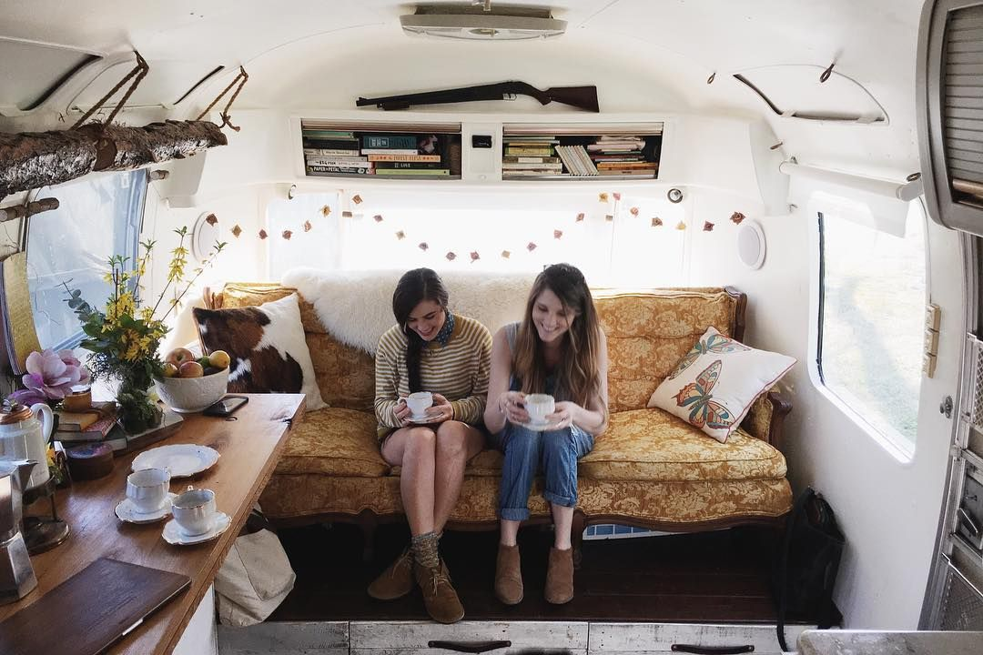 Our new friends @bonniekatez and @belikethefox live in an airstream named Rosemary and it's the absolute coolest. Great hangs over coffee on the most perfect spring day.  by myredandblue