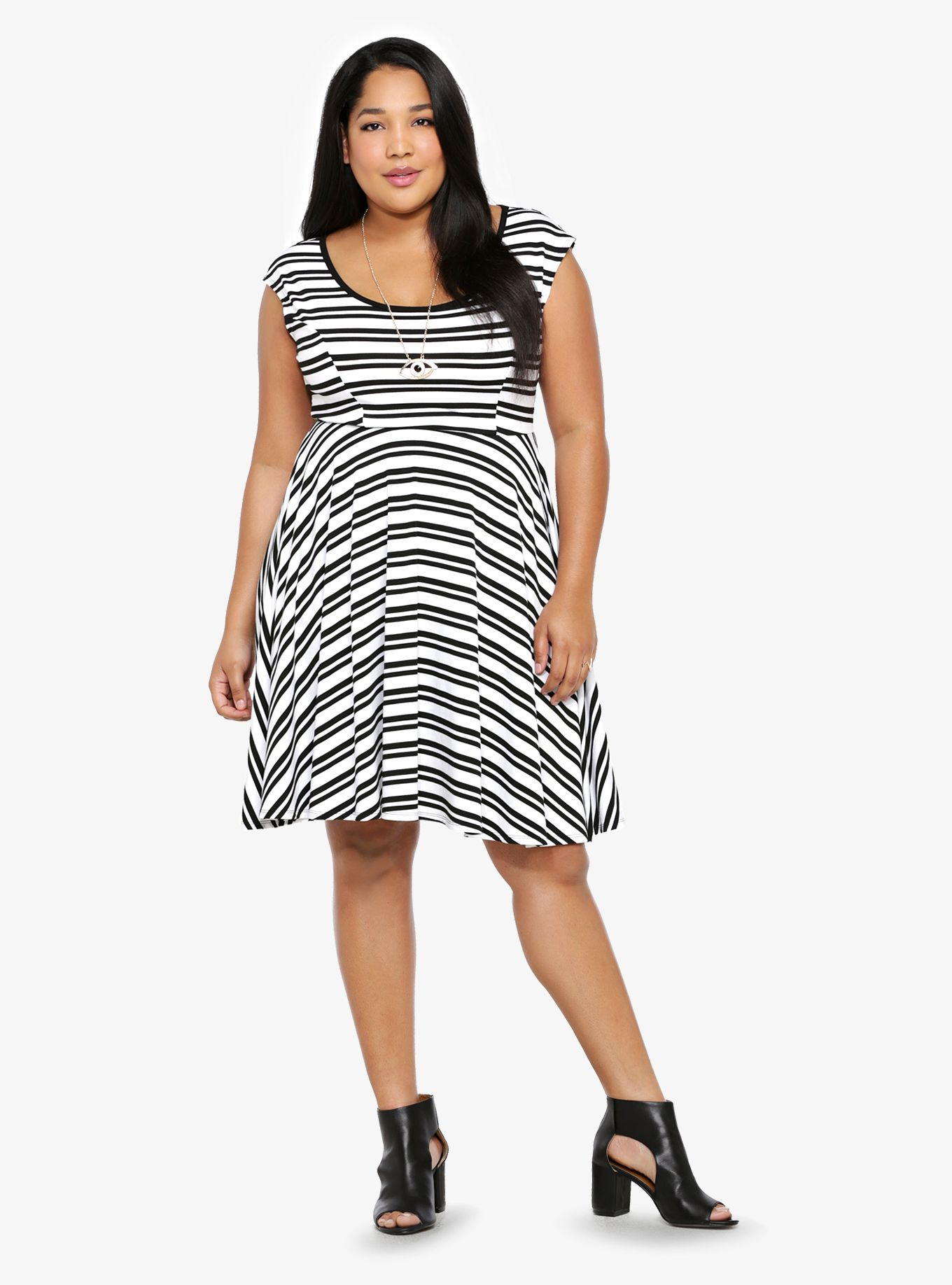 00149759451 Affordable Plus Size Clothing - Sale   Clearance. Did someone say Striped Skater  Dress  Yes please!