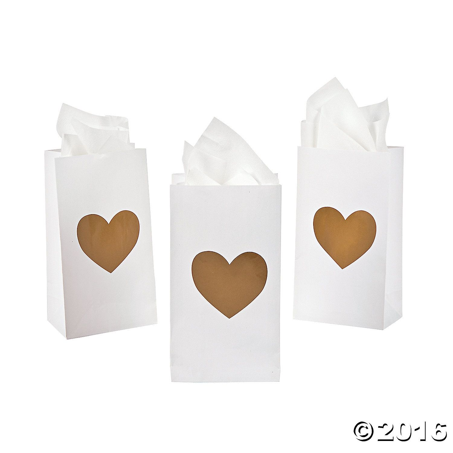 Mini Gold Heart Treat Bags | Wedding linens, Favors and Wedding