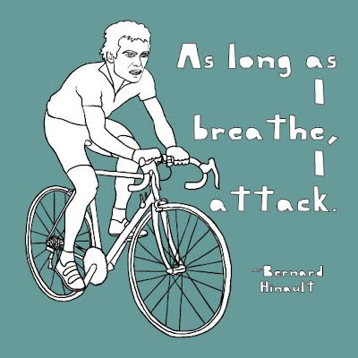 As long as I breathe, I attack. - Bernard Hinault   RELATED: Better breathing techniques for cyclists - http://www.bikeroar.com/tips/better-breathing-techniques-for-cyclists?utm_content=buffer570dc&utm_medium=social&utm_source=pinterest.com&utm_campaign=buffer.   #cycling #breathing #technique #attack #breath #oxygen #fuel