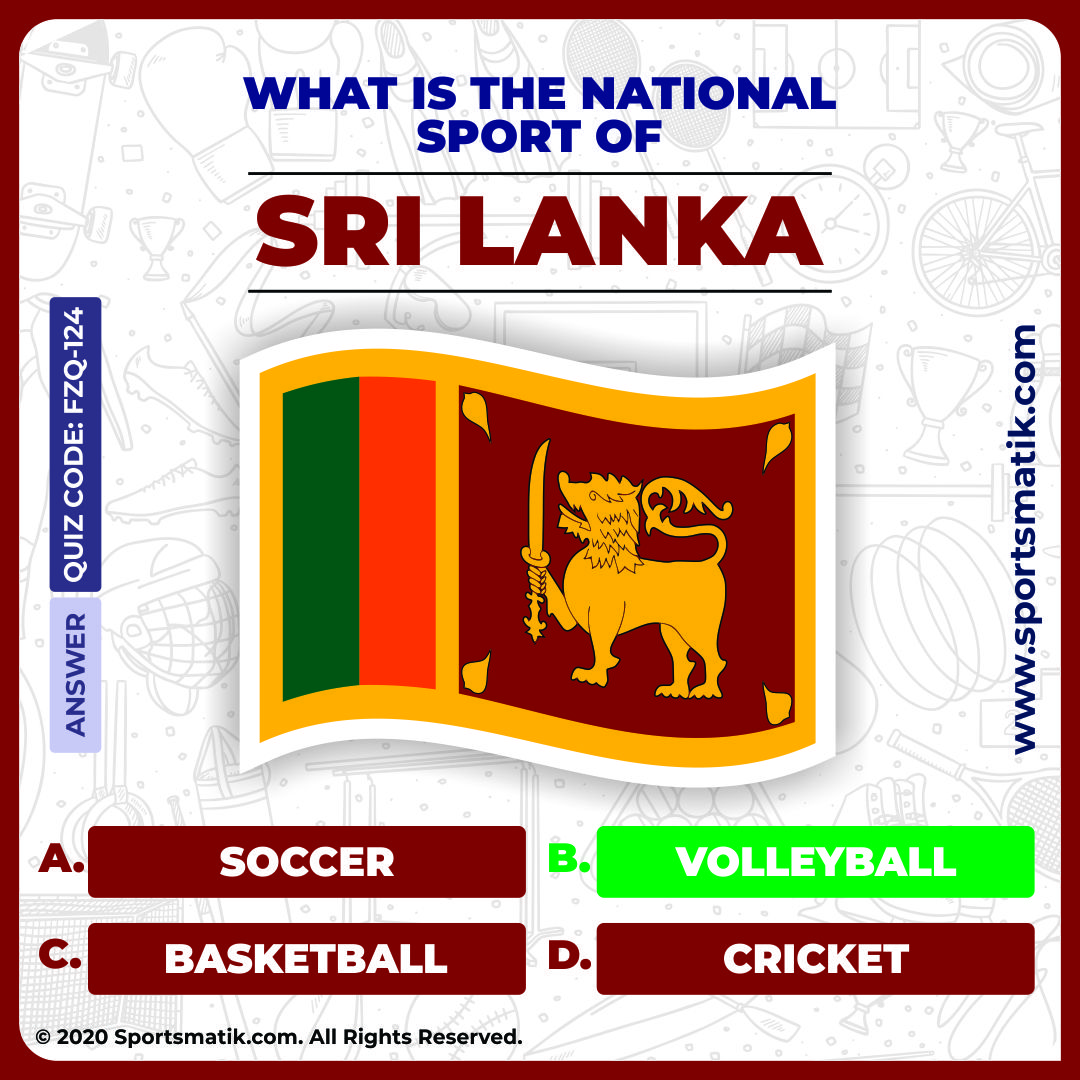 Sri Lanka in 2020 Sports quiz, National sport, Online