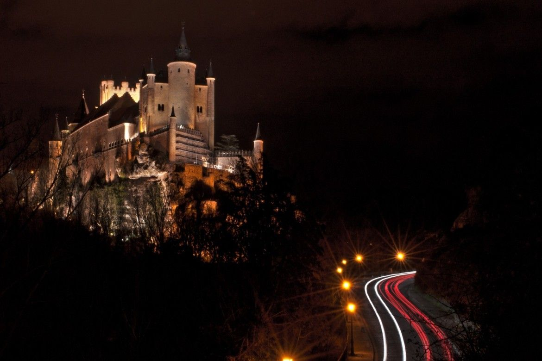 Alcázar de Segovia - vista nocturna