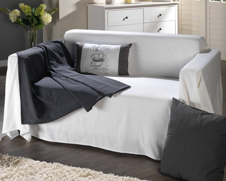 sofaüberwurf »boston« (cremeweiß) - zubehör - wohnzimmer ... - Wohnzimmer Cremeweis