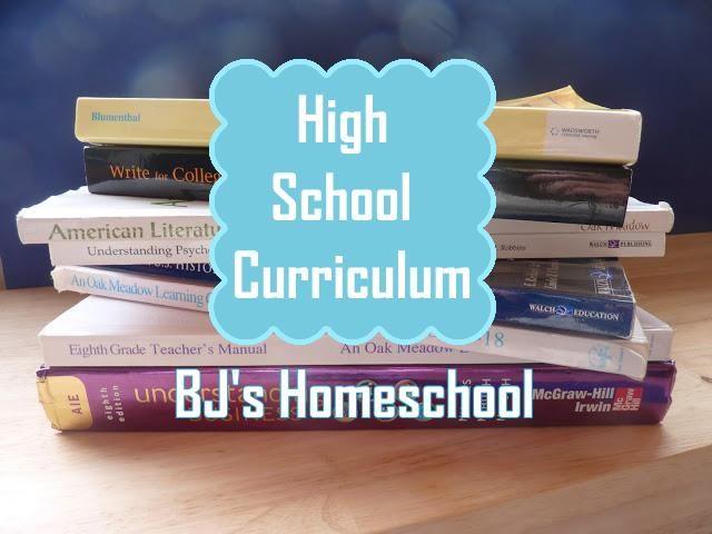 Our Homeschool Curriculum Choices For 9th 10th 11th And 12th
