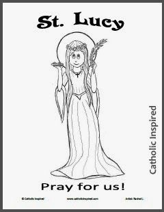 St Lucy Coloring Page Saint Lucy Coloring Pages Catholic