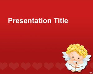 St valentines ppt template is a free red powerpoint background with st valentines ppt template is a free red powerpoint background with a cupid vector over a toneelgroepblik Image collections