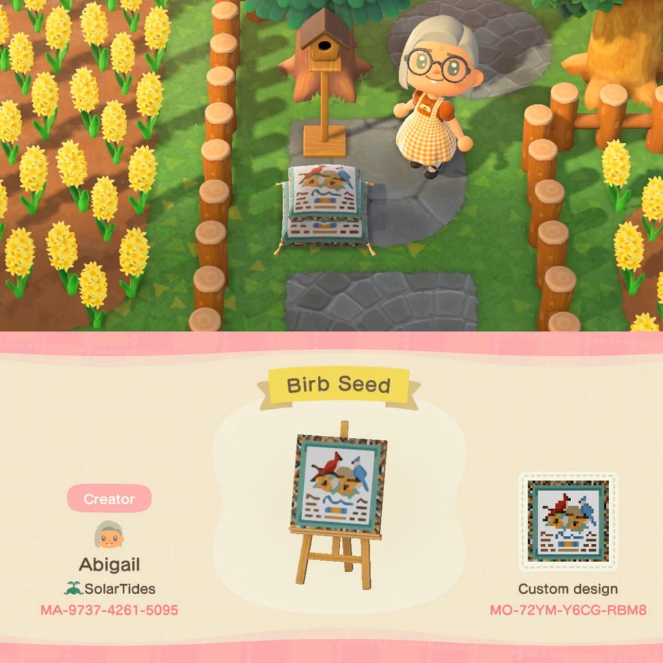 Food for the sweet birbs! ACQR in 2020 Animal crossing