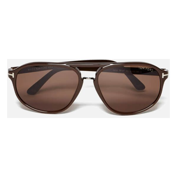 5054b8863b01 Tom Ford Jacob Sunglasses - Brown (5 020 UAH) ❤ liked on Polyvore featuring