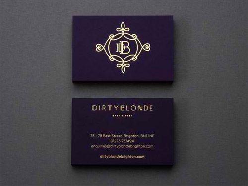 Impressive hot foil stamped business cards you should see business violet gold foil business card colourmoves