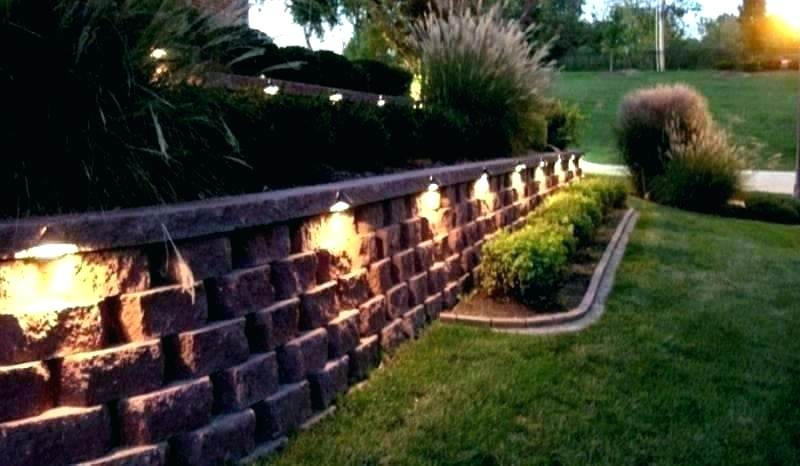 Pin By Paul Mobley On Retaining Wall Ideas Backyard Lighting