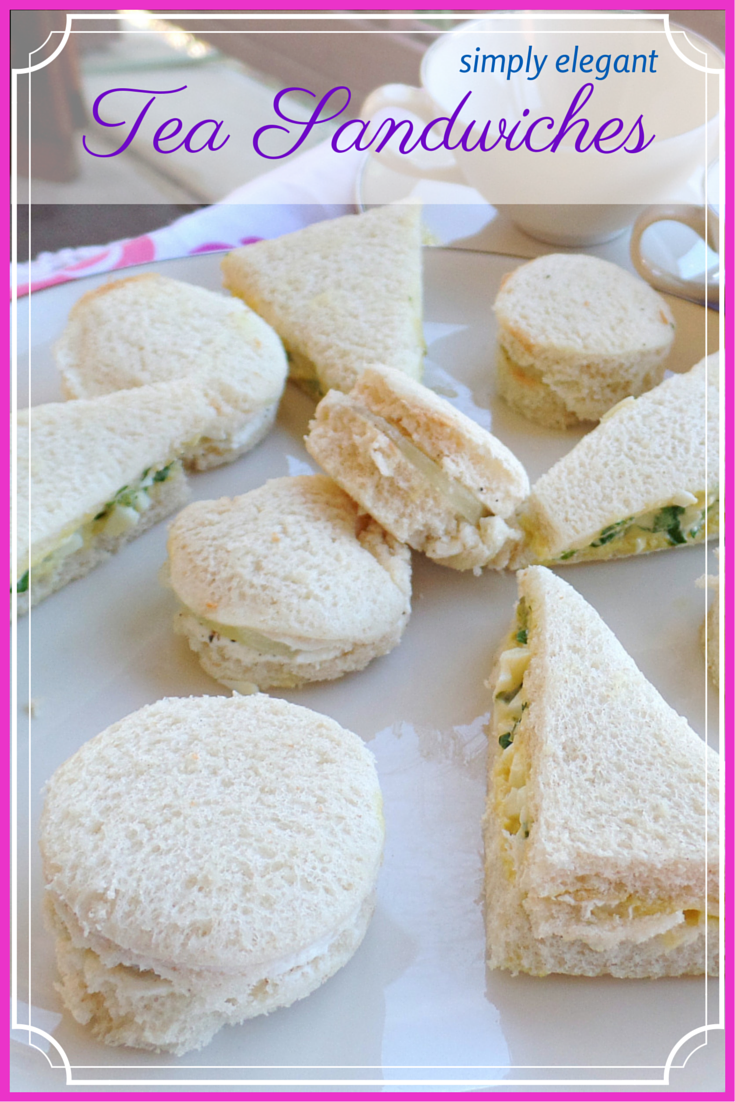 simply elegant tea sandwiches cucumber sandwiches and watercress sandwiches for a tea party ladies luncheon or bridal shower