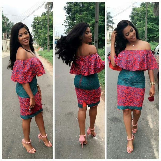 1d6bd3c719dc57 Online Hub For Fashion Beauty And Health  Stylish And Lovely Ankara Off  Shoulder Short Gown .