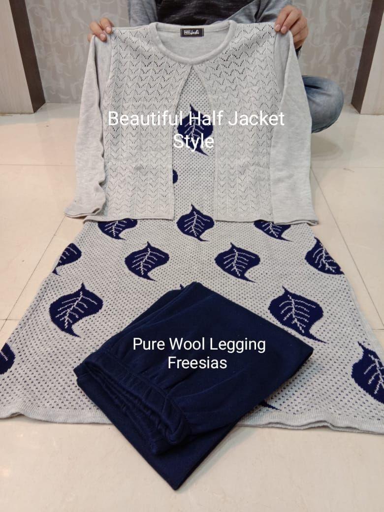 Elegant Jacket in pure wool and silk sweatshirt