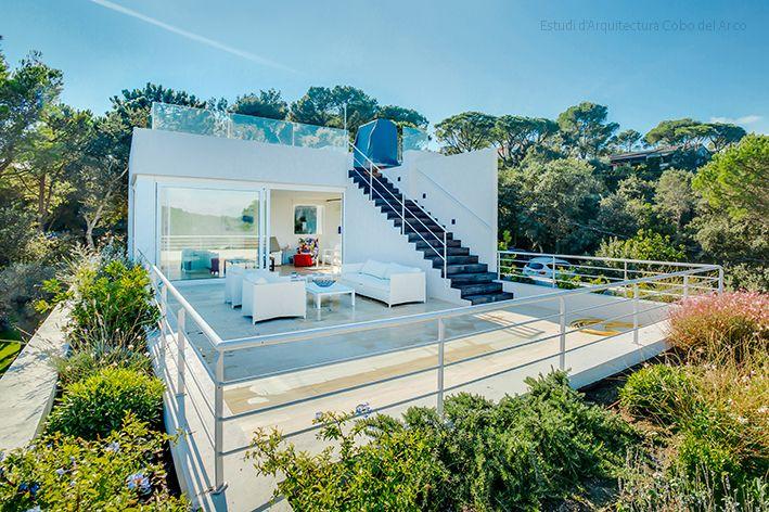 Estudi d'Arquitectura Cobo del Arco. Costa Brava. Begur. Bonita casa mirador.