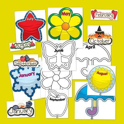 Fichas infantil para repasar los meses del a o en ingl s ideales para decorar y crear un - Aprender ingles en un mes ...