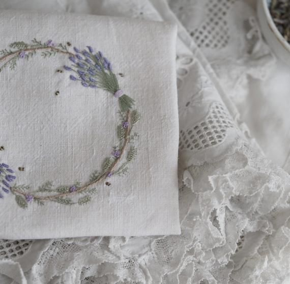 Embroidery Kit - Lavender and Bees