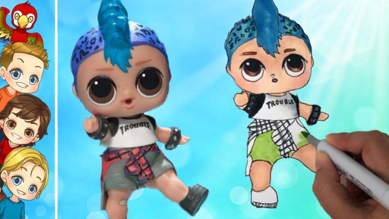 Coloring Lol Punk Boi New Lol Boy Lol Doll Punk Boi Brother