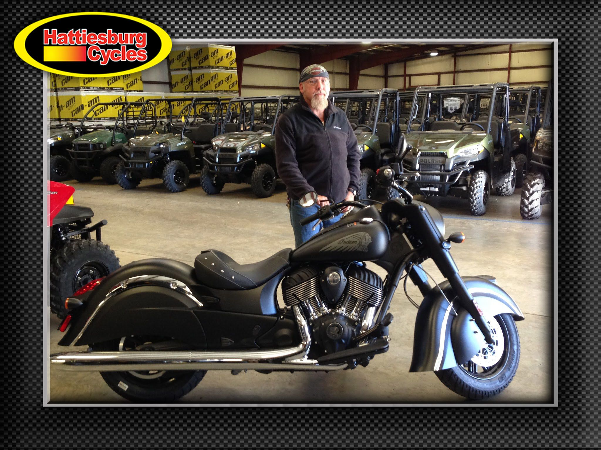 Thanks to James Haas from Abita Springs LA for getting a 2016 Indian Dark Horse. @HattiesburgCycles