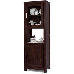 Murano Two Door Display Cabinet (Mahogany Finish)