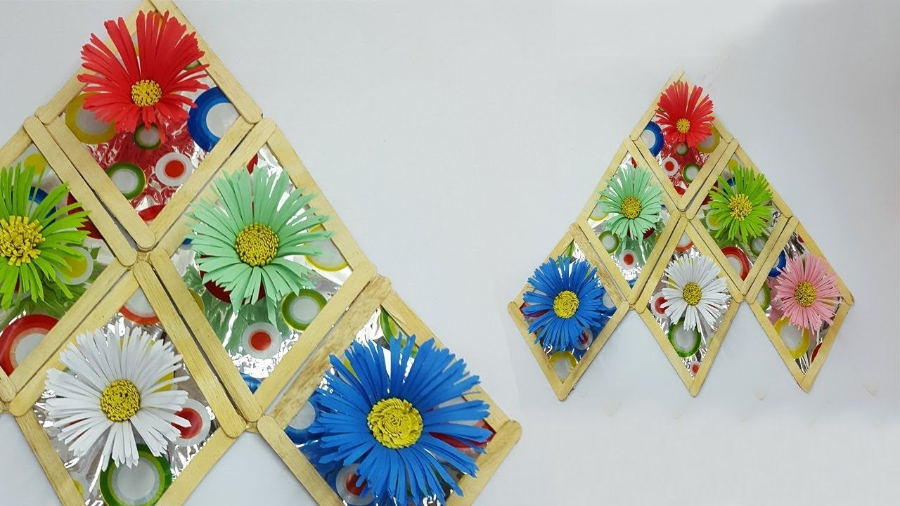 Diy wall hanging with paper flower paper flower