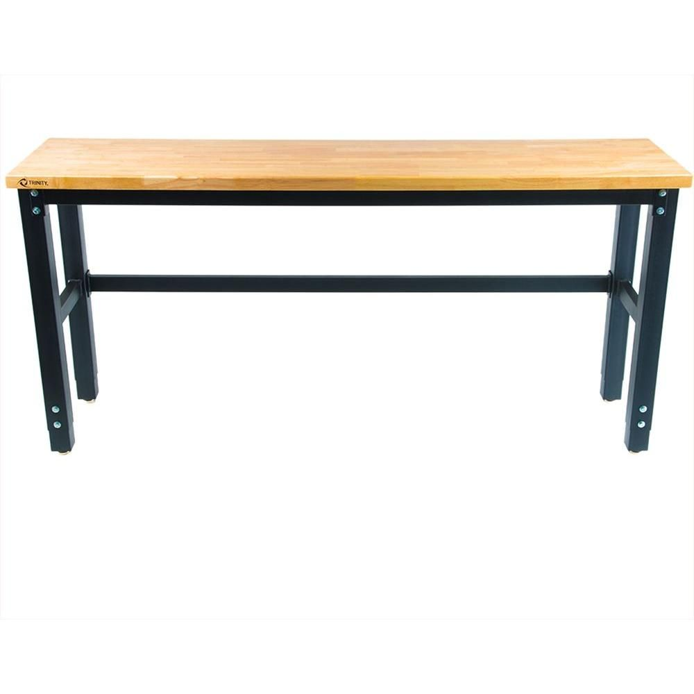 Trinity 6 ft. and 2 ft. Corner Workbench with Storage   Products