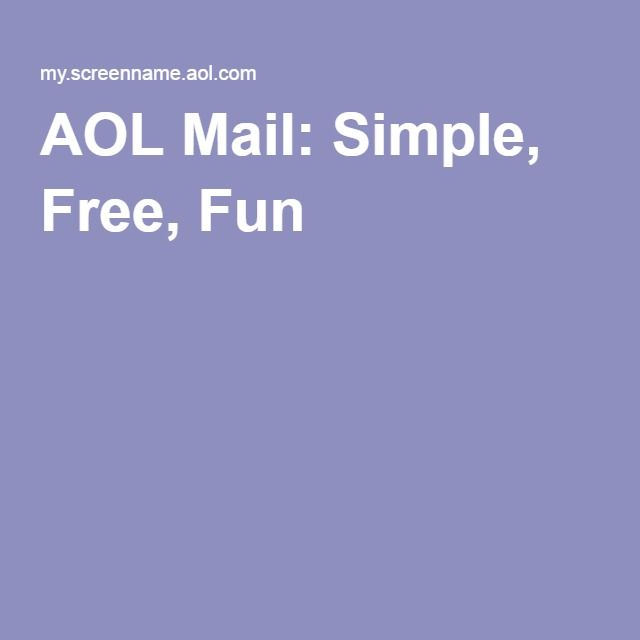 aol mail simple free and fun