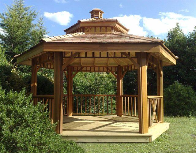 Gloriettes Red Cedar Jardin … | Déco jardin | Kiosq…