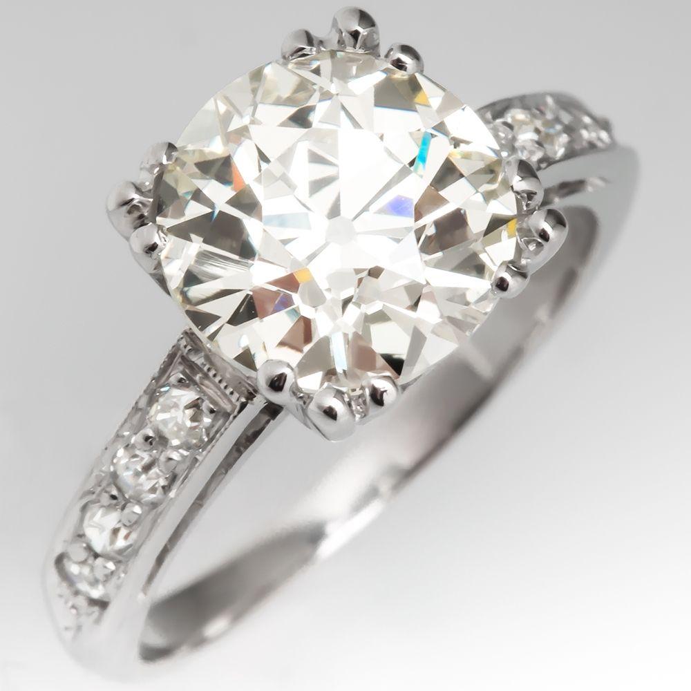 Magnificent vintage engagement ring carat old european cut