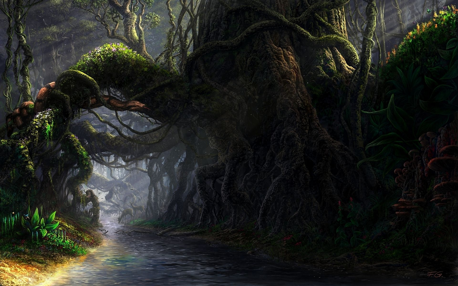 An Ominous Path Fantasy Forest Fantasy Landscape Landscape Background Images
