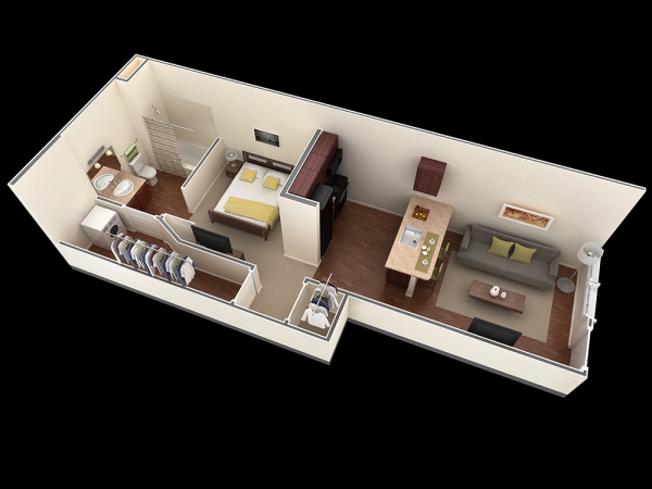 25 One Bedroom House Apartment Plans One Bedroom House Plans One Bedroom House Two Bedroom House