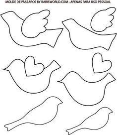 Bird Template Printable | Flying Bird Template Printable