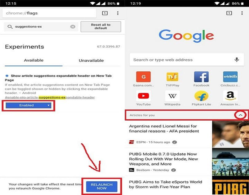 How To Disable Suggested Articles On Chrome For Ios And Android Web Address Chrome Web Browser