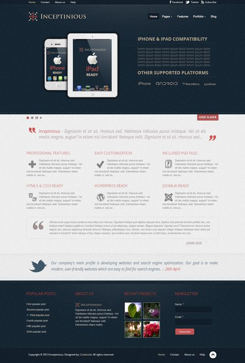 Free Business Website Psd Template Free Psd Files Business