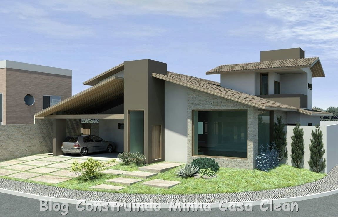 Construindo minha casa clean 20 fachadas de casas - Fachadas casas modernas ...