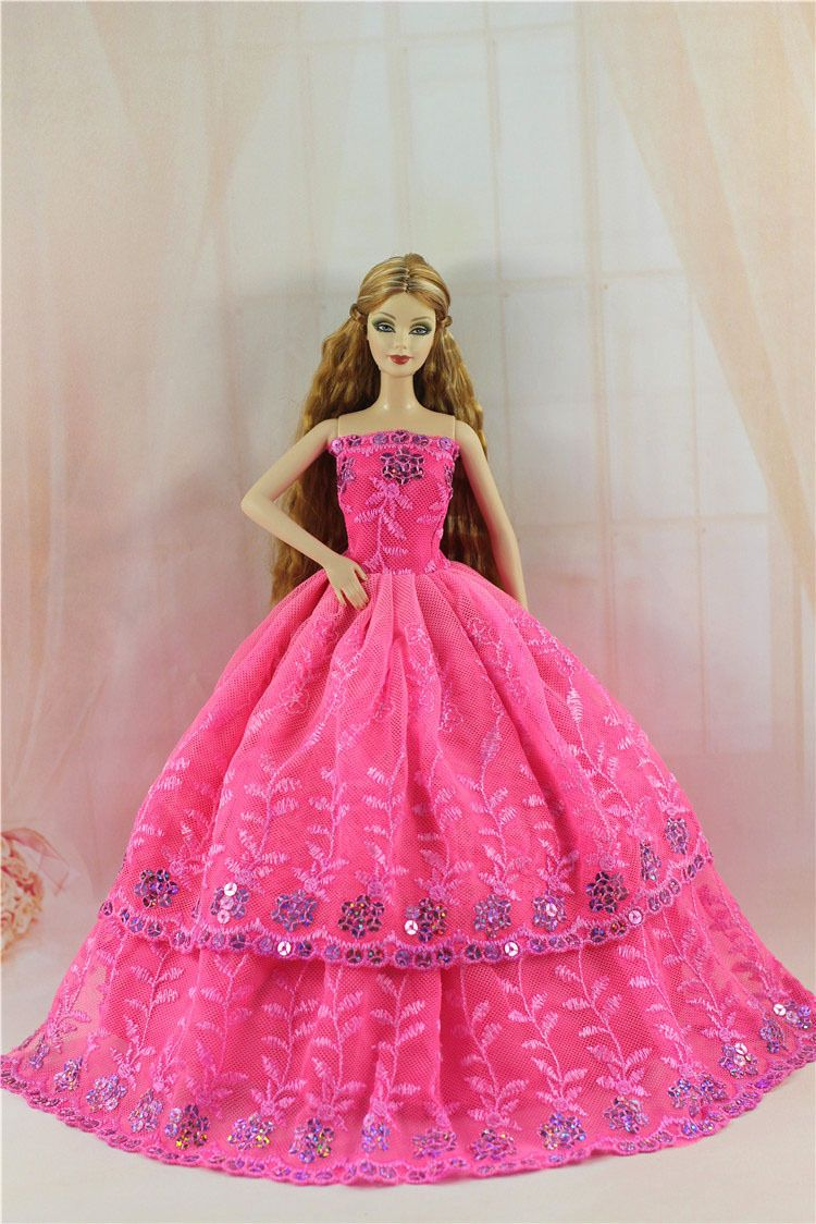 Fashion Royalty Pink Princess Party Dress Gown Ballgown for Barbie ...