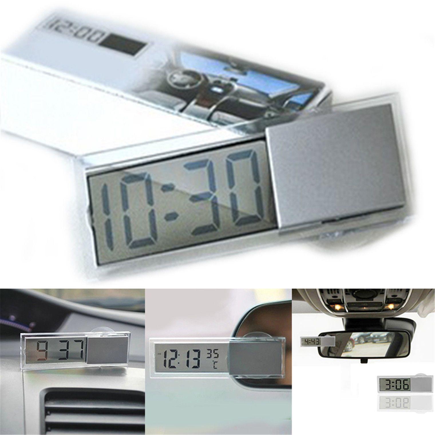 Useful Auto Car Electronic Clock Liquid Crystal Display Lcd Timer Digital Ns