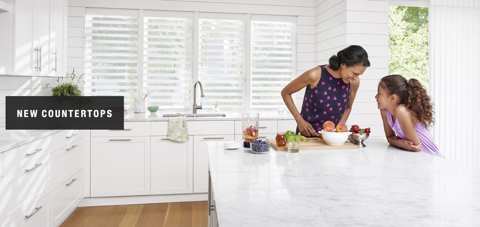 refresh your kitchen or bath with new countertops - ideas from