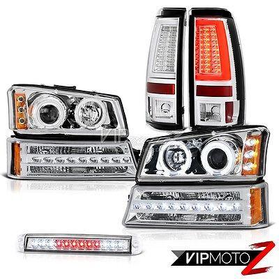 03 04 05 06 Silverado Tail Lights 3rd Brake Light Signal Projector Headlamps Led Chevy Silverado 1500 Chevy Silverado Silverado 1500