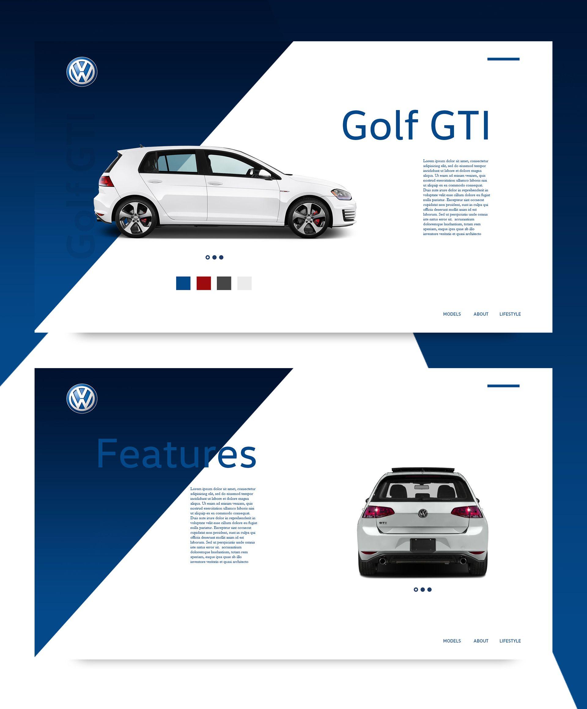 Ознакомьтесь с этим проектом Behance «VW Landing Page