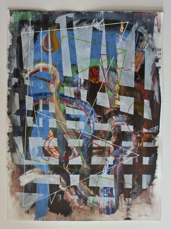 "Saatchi Online Artist: Detlef Gotzens; Acrylic 2013 Painting """"Rational space returning"" # 1"""