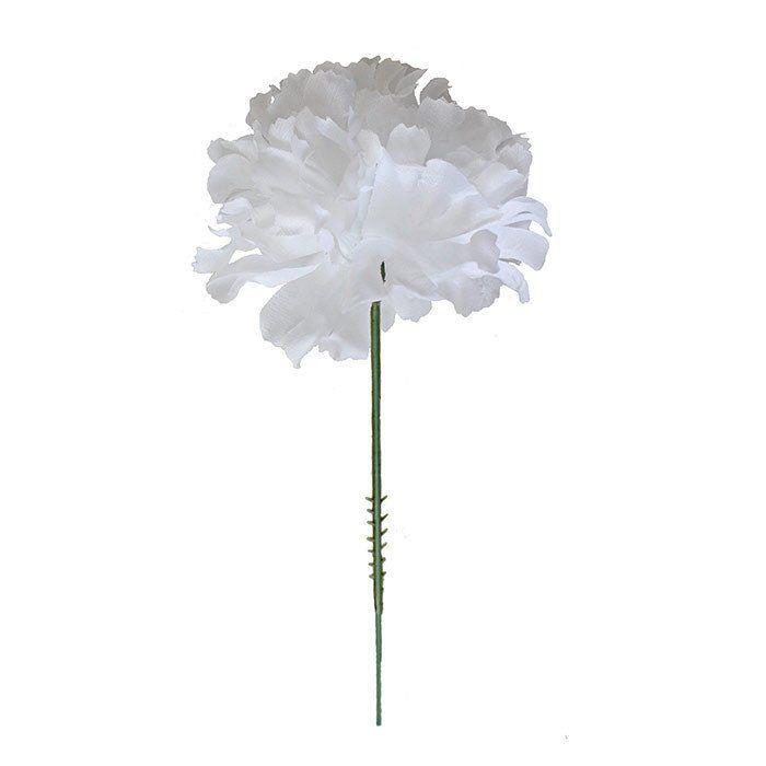 Case Of 100 White Carnation Bulk Cheap Silk Flower Picks35 Bulk