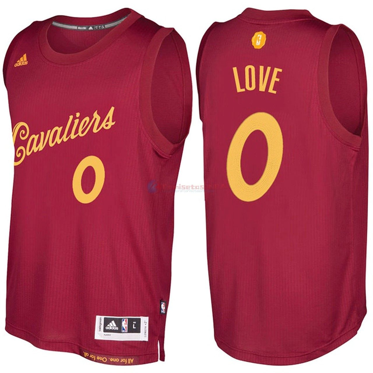 a2315e26984 Camisetas NBA Cleveland Cavaliers 0 Kevin Love Rojo Hardwood Classics 2016-17  - Hasta Un