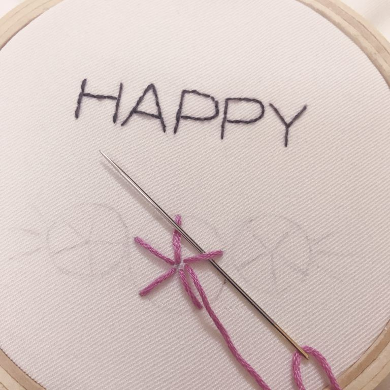 التطريز اليدوي تعلم ثلاث غرز أساسية وتنفيذها على باترون Embroidery Handmade Hair Accessories