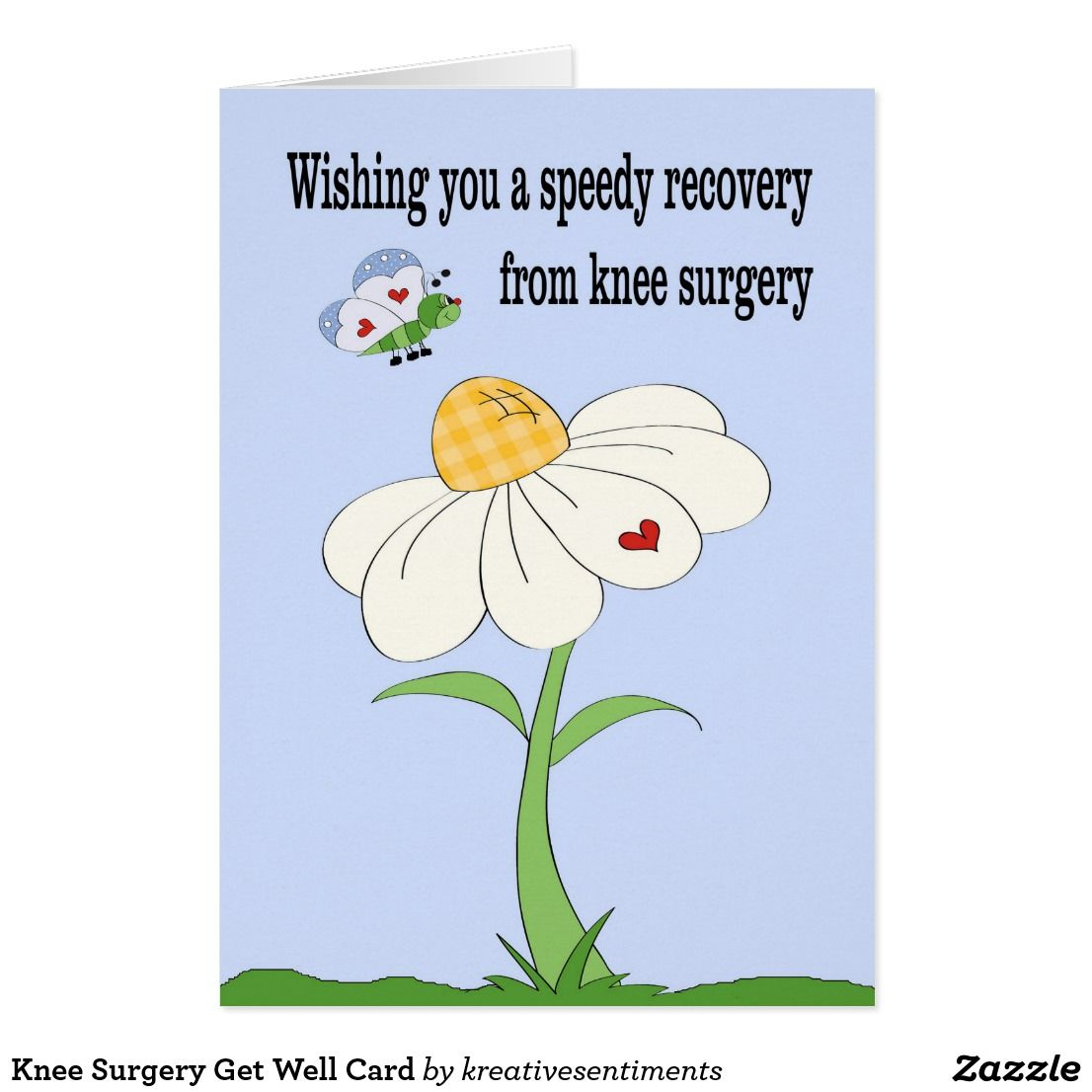 Knee Surgery Butterfly Themed Get Well Card Get Well Cards Recovery Cards Art Craft Cards