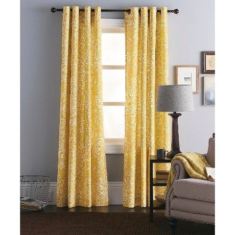 Threshold Paisley Curtain Panel Master Bedroom Option Paisley Curtains Yellow Curtains Living Room Panel Curtains