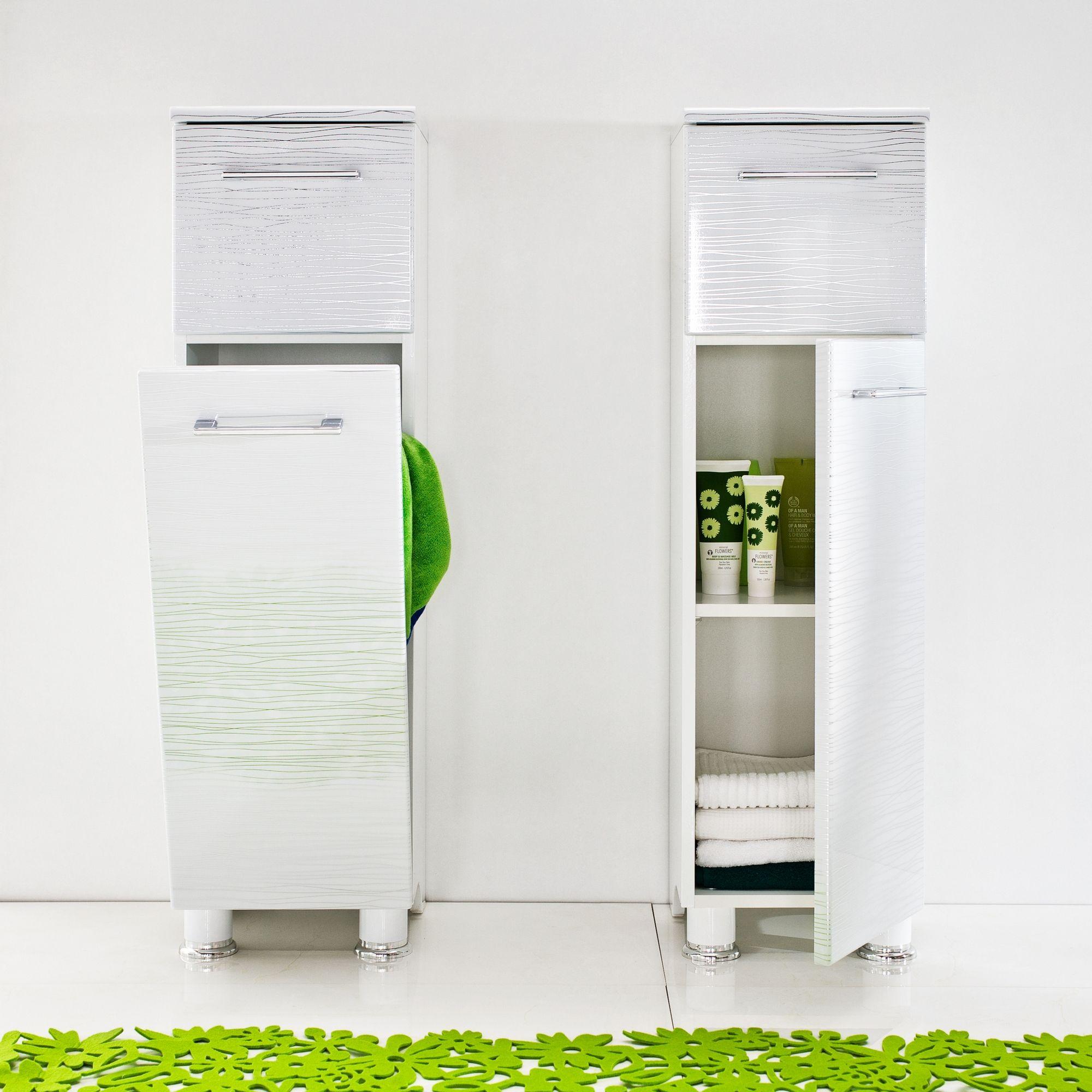 Bathroom Floor Cabinet With Hamper