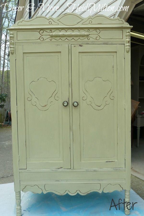 Color Versailles Chalk Paint By Annie Sloan Armoire Makeover Painted Armoire Chalk Paint